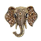 National Wind Elephant T-shirt Badge Corsage Brooch and Pin Diamond Set for Children Women Men