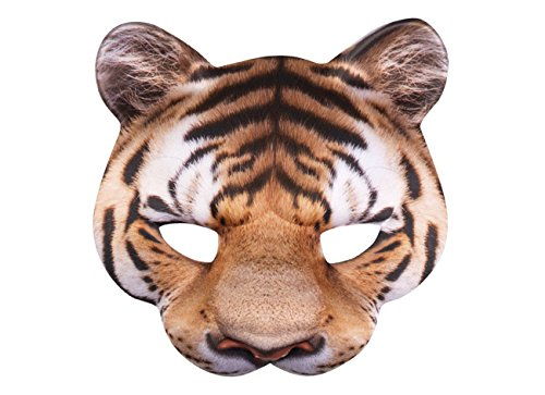 ke, mens, Tiger, One Size (Tiger Kostüm Maske)