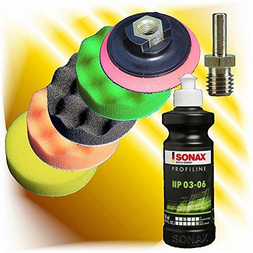 Sonax Profiline Politur NP 03 -06 250 ml + Polierschwamm 75 mm Set 8d