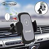 Drivaid Qi Ladestation Auto, 10W Fast Wireless Charger Auto Halterung mit Aromatherapie, Compatible mit iPhone Samsung Huawei und alle Arten von Qi-fähige Handys (Bonus 2 Aromatherapie Streifen)