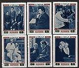 Ajman 1971 Albert Schweitzer set of 6 (Mi 801-806A) u/m PERSONALITIES ORGAN MUSIC LITERATURE NOBEL PHILOSOPHY JandRStamps