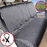 Vailge Bench Dog Car Seat Cover for Back Seat, 100% Waterproof Dog Car Seat Covers, Heavy-Duty Nonslip Back Seat Cover for Dogs, Washable Compatible Pet Car Seat Cover for Cars SUVs (Standard, Gray)