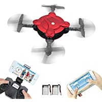 Mini Drones de fotografía, LAMASTON 2.4G helicóptero teledirigido FPV Drones para niños y adultos con control de APP, modo sin cabeza, retención de la altitud y sensor de gravedad