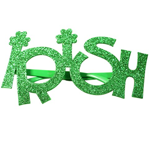 LUOEM St.Patricks Neuheit Brille Brillen Glitter Irish Party Gläser Irish Day Foto Requisiten St.Patrick's Day Party Favor ()