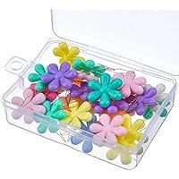 30 Piezas Enhebrador de Agujas Inserción de Costura de Alambre Cabeza de Flor de Plástico con Caja Transparente, Multicolor
