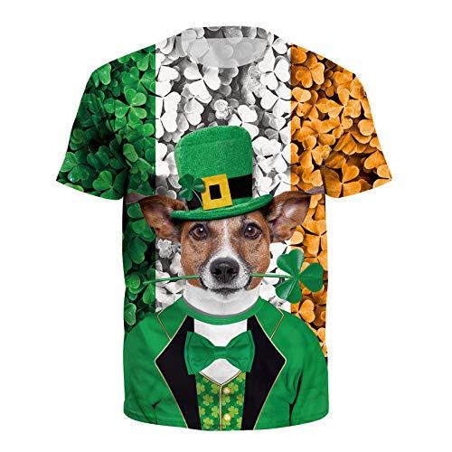 Fairy Baby Irisches St. Patrick Day Rugby-T-Shirt Kurzarm hässliches lustiges T-Stück Size XX-Groß (Grün)