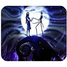 LeonardCustom- Personalized Rectangle Non-Slip Rubber Mousepad Gaming Mouse Pad / Mat- The Nightmare Before Christmas Jack Skeleton and Sally -LCMPV609