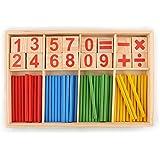 hibote Cartes numšŠriques en bois et Counting Rods avec Box, Montessori MatšŠriel Sticks MathšŠmatiques MatšŠriel šŠducatif pour enfants Kid