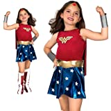 Forever Young Girl's Deluxe Wonder Woman Fancy Dress Costume