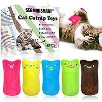 SEGMINISMART Catnip Giocattoli per Gatti, Gatti Giocattoli, Interattivi Giocattolo per Gatti, Giocattolo per Il Gatto Pet Catnip Teeth Grinding Chew, Gattino Flop Giocattolo(5pcs)