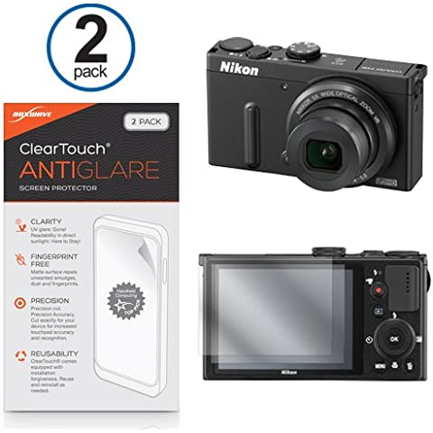 Nikon Coolpix P330Protector de pantalla, ® [BoxWave ClearTouch (2-Pack) y antihuellas película mate Skin para Nikon D810, D750| Coolpix