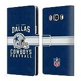 Head Case Designs Offizielle NFL Helm-Buchdruckerkunst 2018/19 Dallas Cowboys Logo Brieftasche Handyhülle aus Leder für Samsung Galaxy J5 (2016)