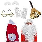 Déguisement accessoires de père Noël avec la perruque + la barbe + les lunettes +...