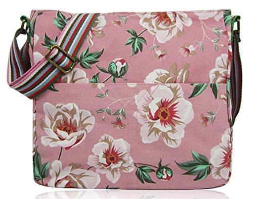Kukubird Vari Animali Ancoraggio E Ombrello Crossbody Design Top-manico A Tracolla Del Totalizzatore Flower Crossbody Dark Pink