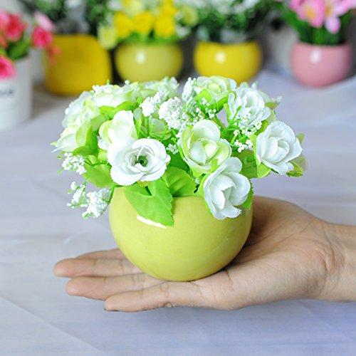 Preisvergleich Produktbild WANG-shunlida Fake Blumen Kunstseide Blume Simulation Package Zähler Schreibtisch Anzeige Home Ausstattung Dekorative Keramik Topfpflanzen Blume Pflanzen,  Xs