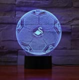 Fußballverein Team Logo 3D Led Lampe Fußball Touch Control Usb Geschenkservice