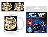 Set: Star Trek, Bridge Crew) 50th Anniversar Tazza Da Caffè Mug (9x8 cm) E 1 Star Trek, Set Di Badge (15x10 cm)