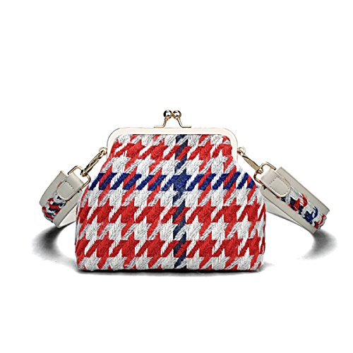 Borsa A Tracolla In Lana Da Donna Wild Hit Color Grata Borsa A Tracolla Mini Clutch Rossa
