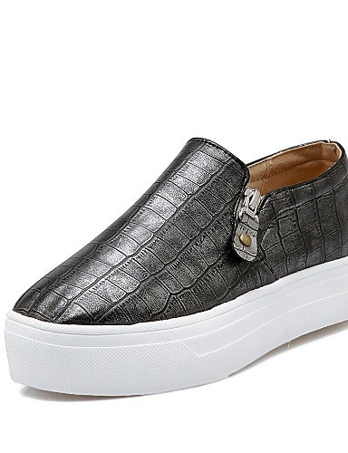 ZQ gyht Scarpe Donna-Mocassini-Casual-Punta arrotondata-Basso-Finta pelle-Nero / Bianco / Grigio , gray-us8 / eu39 / uk6 / cn39 , gray-us8 / eu39 / uk6 / cn39 black-us8 / eu39 / uk6 / cn39