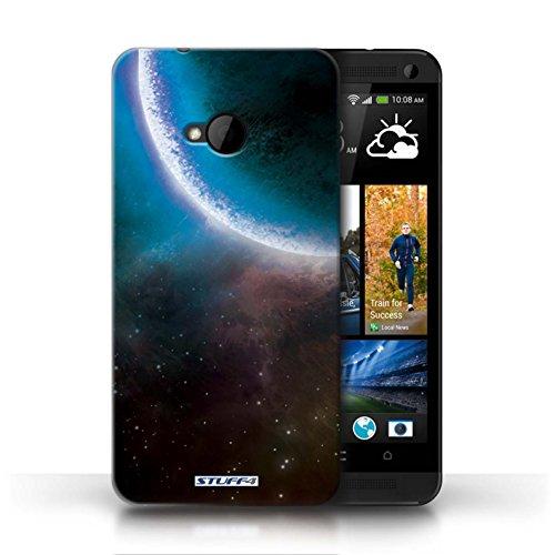 Kobalt® Imprimé Etui / Coque pour HTC One/1 M7 / Planète Pourpre conception / Série Cosmos Éclipse Bleu