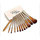 KATTI DEL COCO Cosmetics Makeup Brush Set With Storage Box, Set Of 12.