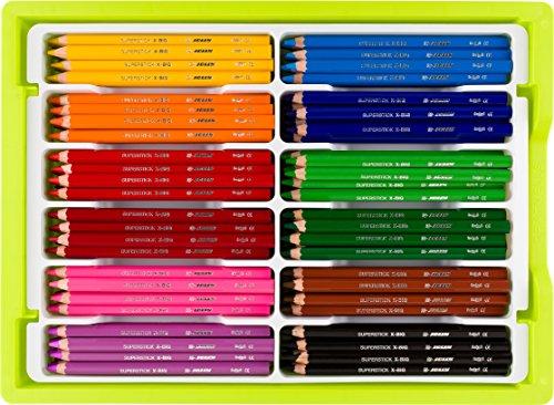 Jolly x-big Premium Jumbo lápices de colores con caja de almacenamiento...