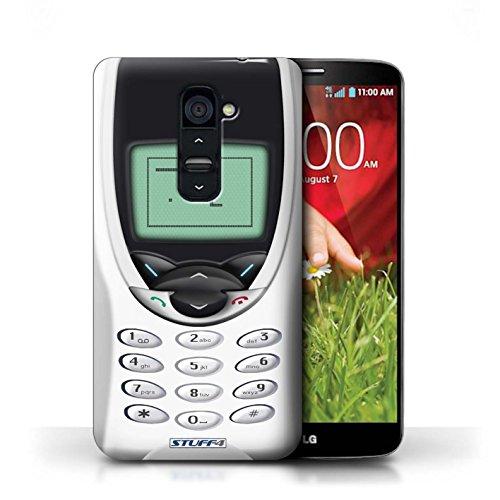 Kobalt® Imprimé Etui / Coque pour LG G2 / Nokia 8210 blanc conception / Série Portables rétro Nokia 8210 blanc