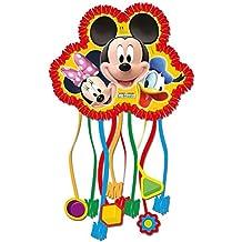 Disney Mickey Mouse - Partido - Cumpleaños - Piñata con 10 bandas