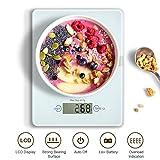 HAMSWAN Digitale Küchenwaage, VKS314 Multifunktionale Küchenwaage, Sicherheitsgla Küchenwaage, Ultra-Slim, leicht zu Reinigen, 4 Einheiten, 11lb 5kg, für Home Baking/Diät-Kochen
