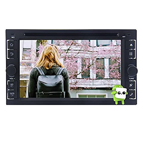 EinCar Android 6.0 Marshmallow Car Stereo Double Din Headunit En voiture Dash GPS navagation Autoradio Bluetooth Support téléphone Mirroring WIFI OBD écran multi-tactile voiture Radio RDS FM / AM Récepteur