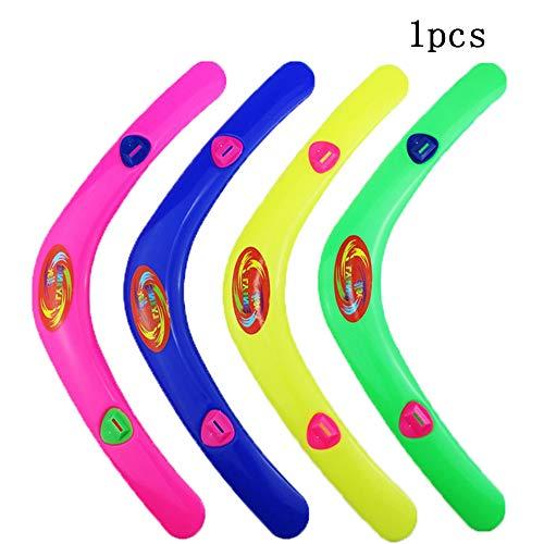 Goodplan 1 Stücke Neuheit V Förmigen Wurf Kunststoff Bumerang mit Pfeife Kinder Spielzeug für Outdoor-Spiel (Zufällige Farbe)
