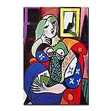 Karen Max Picasso Femmes Abstraite Toile Art Print Peinture Affiche Mur Photos pour Le Salon Décoratif À La Maison (20x28inch-50x70cm)