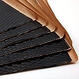 Noico Schwarz 2 mm 3.4 qm Selbstklebende Alubutyl Anti Dröhn Dämmmatte, Auto Dämmung (Lärmschutz, Schalldämmung und Schallschutz für Kfz)