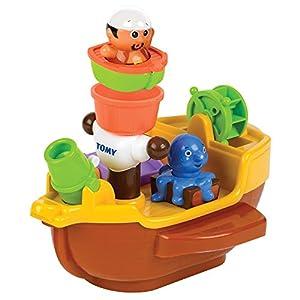 """TOMY Spielzeug Schiff """"Piratenschiff"""" mehrfarbig – hochwertiges Kleinkindspielzeug – Piratenschiff Spielzeug für die Badewanne – ab 18 Monate"""