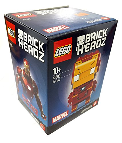 1 x LEGO BrickHeadz 41590 Marvel Iron Man (6) ca. 7 cm gross + Grundplatte Figur neu 2017 Sammler