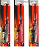 Set of 2 x Refillable Long Nozzle Gas Fire Safety Lighter Home Kitchen Hob BBQ Camping - No need for matches