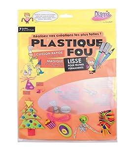 DI 42261 Hojas de Cristal de plástico de Diam 29,7 x 21,6 x 0,1 cm FOU Conjunto de 7
