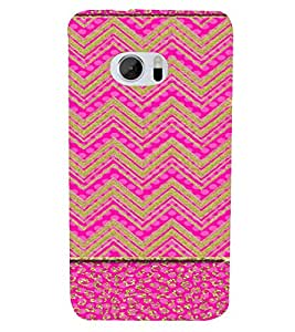 PrintVisa Ethnic Chevron Pattern 3D Hard Polycarbonate Designer Back Case Cover for HTC One M10
