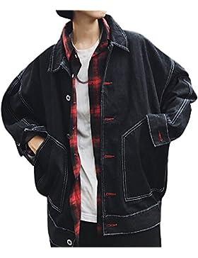 Hombre Chaqueta Vaquera Manga Larga Abrigo Jacket Cazadoras De Mezclilla Con Botones