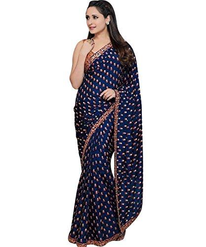 Ethnic Diwa lattest designer BLUE georgette bollywood saree