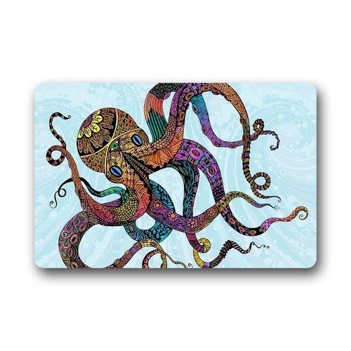 homelover Custom Fußmatten Girly Skurril Octopus Bright Fußmatten Welcome Diele Matten Innen/Außen rutschfeste Rückseite aus Gummi (59,9x 39,9cm) (1702 Teppich)
