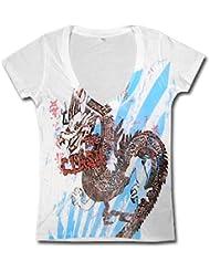 The Clash * Dragon * Girls – Shirt * white * S *