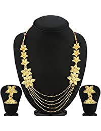 YouBella Jewellery Gold Plated Necklace Jewellery Set With Earrings For Girls/Women - B07F5WNS84