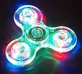 Hand Spinner Fidget Spielzeug, mit Crystal LED Light Flash Stress Reducer Perfekt für ADD, ADHS, Angst und Autismus Adult Kinder Spielzeug Geschenk -