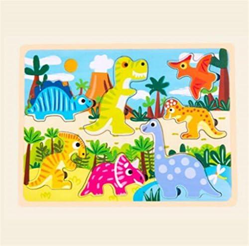 Jouets éducatifs de puzzle pour les enfants Cartoon en bois bois bois Puzzle éducation Learning Toy cadeaux fantastiques pour les enfants (dinosaure) B07K3VG3HF | Attrayant De Mode  fa85e2