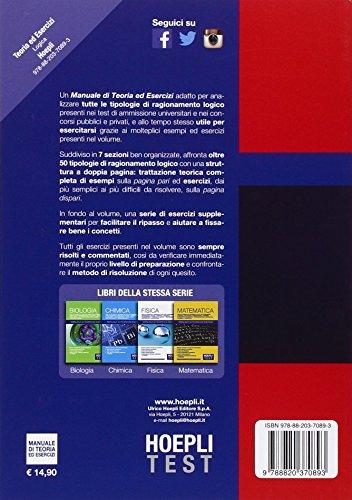 Zoom IMG-1 hoepli test logica manuale di