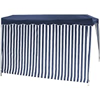 Siena Garden 553903 Set pareti per gazebo pieghevole (1 con finestra e 1 senza finestra), colore: Blu/Bianco - Trova i prezzi più bassi