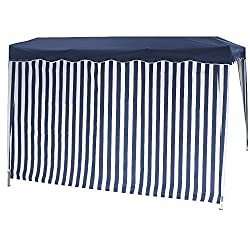 Gautzsch (FO) Siena Garden Side-Cover for a Folding Pavillion Blue/White 1x with Window and 1x without Window 553903