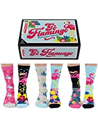 Go Flamingo - United Oddsocks - Box 6 Oddsocks Women UK 4-8
