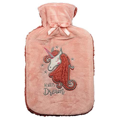 Bolsa de Agua Caliente Térmica Calentador Cama con Forro Gin Prosecco Unicornio Accesorio para Mujer Hombre Accesorios Habitación para toda la Familia (Unicornio)